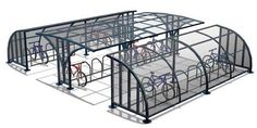 Velodome offers both galvanized steel and flexible plastic traffic bollards that prevent vehicles from entering prohibited areas and damaging bike shelters, bikes. Car Shed, Bike Shed, Movement Architecture, Urban Architecture, Bike Parking Rack, Cycle Shelters, Bike Shelter, Corner Sheds, Cheap Sheds