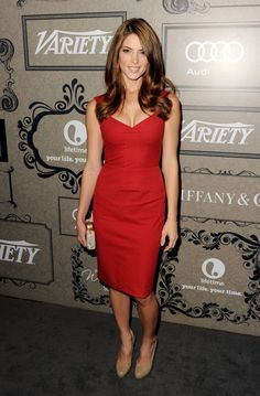 Ashley Greene Cocktail Dress    Ashley looked red hot in this figure-flattering red dress at the Variety's Power of Women event.  Brand: Roland Mouret