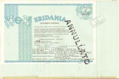ERIDANIA ZUCCHERIFICI NAZIONALI - 2 AZIONI ORDINARIE 1984 + KIT OMAGGIO