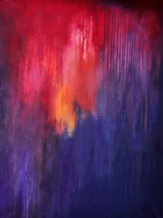 Sunset  original abstract oil painting  large by Natureandart