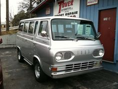 volkswagon van smolkswagon van! The Ford Falcon is the BUSINESS! Wood lined interior, camping vent on top, squished nose perfect for paralell parking. CANT BEAT IT! I smell a ROAD TRIP! #old cars are the business