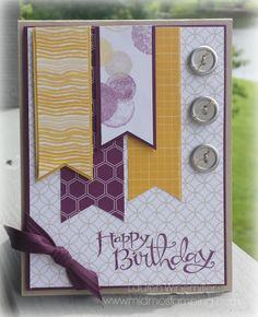Stampin' Up! Moonlight dsp, Sassy Salutations, Metal Buttons www.midmostamping.com