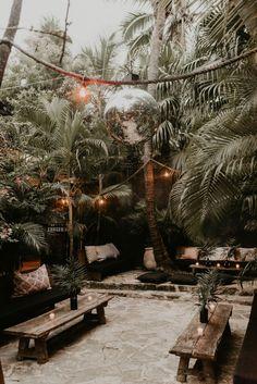 Emma Cali and Adam Franzino's Wedding in Tulum Bohemian Hotel, Outdoor Restaurant, Tulum Mexico, Tears Of Joy, Bungalow, Outdoor Living, Destination Wedding, Cancun, Backyard