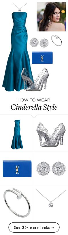 """""""Cinderella"""" by meganochoa on Polyvore featuring Badgley Mischka, Cartier, Tiffany & Co., Yves Saint Laurent and Dolce&Gabbana"""