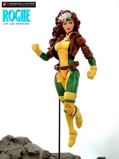 Rogue (Jim Lee Era) Custom Action Figure http://www.figurerealm.com/viewcustomfigure.php?FID=66609 Checkout http://customizedactionfigures.org/ for awesome custom action figures