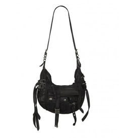 strappy leather hobo
