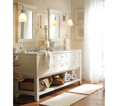 Classic Double Sink Vanity   White