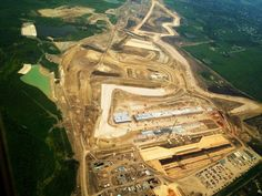 April 4, 2012 shot of Circuit of the Americas F1 track from the air.
