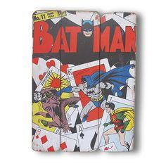 Placa de Madeira Batman e Robin