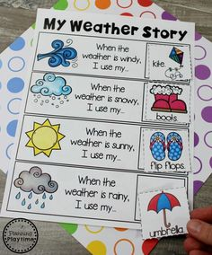 Kindergarten Writing Worksheets is part of Weather kindergarten - Looking for fun Kindergarten Writing Worksheets and Centers This Kindergarten Writing Unit 3 helps children discover, continue and create story patterns Weather Activities Preschool, Teaching Weather, Weather Science, Seasons Activities, Preschool Themes, Kids Learning Activities, Weather Unit, Preschool Lesson Plans, Sorting Activities