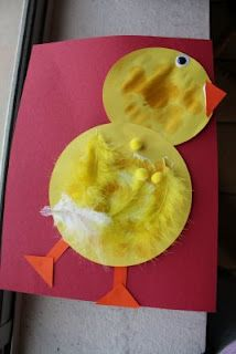 Easter Chick Paper Craft