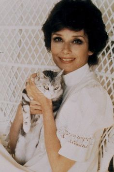 audrey hepburn and her cat ....pin by StoneArtUSA.com ~ affordable custom pet memorials for everyone.