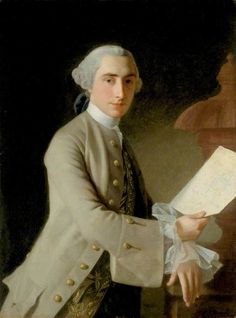 James Adam (1732–1794) by Allan Ramsay 1754, Collection: Laing Art Gallery  via Rococo Revisited