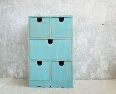 Aquamarine vintage Fashion and Decor Rustic Wooden by Grimme