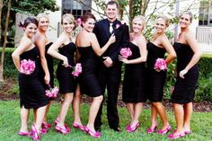 Another Black Maids with All Pink Hair pieces, shoes and flowers... I absolutely LOVE it :)