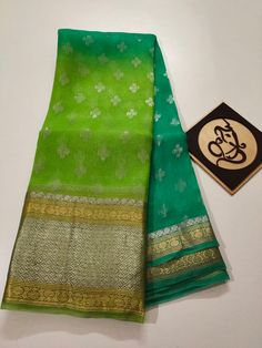 Buy pure kora by kora multi color combination sarees at siri designers 8897195985 Cotton Saree Designs, Half Saree Designs, Saree Blouse Neck Designs, Trendy Sarees, Stylish Sarees, Fancy Sarees, Half Saree Lehenga, Saree Look, Kanjivaram Sarees Silk