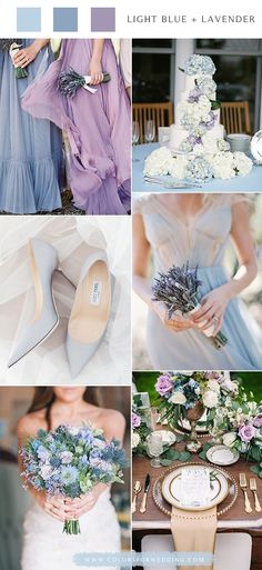 Top 6 spring & summer wedding color palettes– light blue and lavender, wedding … 2020 – Dresses Fashion Womens 2020 Lavender Wedding Colors, Navy Wedding Colors, Unique Wedding Colors, Popular Wedding Colors, Spring Wedding Colors, Wedding Color Schemes, Wedding Blue, Trendy Wedding, Wedding Details