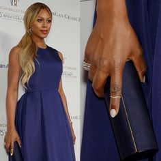 Laverne Cox wearing the #ALEXMIKA Wave Ring | alexmikajewelry.com