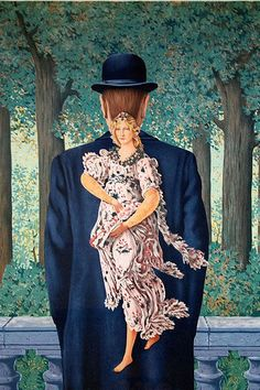 """pixography: Rene Magritte ~ """"Le bouquet tout fait"""", 1957 ════════════════════════════════ http://www.alittlemarket.com/boutique/gaby_feerie-132444.html ☞ Gαвy-Féerιe ѕυr ALιттleMαrĸeт  https://www.etsy.com/shop/frenchjewelryvintage?ref=l2-shopheader-name ☞ FrenchJewelryVintage on Etsy  http://gabyfeeriefr.tumblr.com/archive ☞ Bijoux / Jewelry sur Tumblr"""