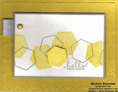 Six-Sided Sampler and Honeycomb Embossing Folder.
