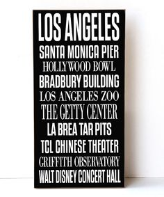 Look what I found on #zulily! Los Angeles Subway Wall Sign by Vinyl Crafts #zulilyfinds