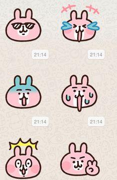 Pusheen Stickers, Cartoon Stickers, Cute Stickers, Emoticon, Emoji, Logo Tv, What To Draw, Chibi Characters, Kawaii