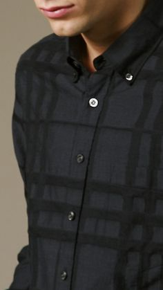 Burberry Check Jaquard Shirt