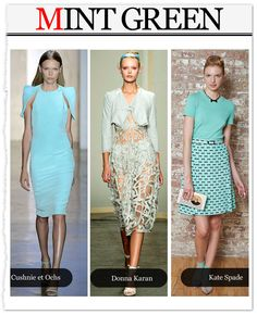 Mint green, crop tops, prints and more were the trends at #NYFW