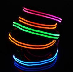 Double-Glow-Striped Night Light LED Dog Collar