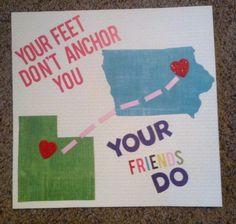 Utah to Iowa friendships. Made this last night- great best friend gift. - <3 Katie