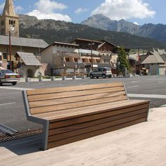 Public bench / contemporary / metal / in wood - MONTGENÈVRE by Philippe GONNET - AREA