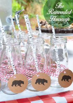 Camping Outdoor Woodland Animal Forest Themed Boy Baby Shower Birthday  Party From The Reinvented Housewife!