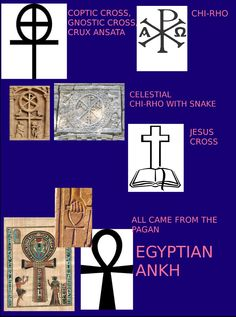 constantine knew the meaning of the ankh thought that it would make a great christian pagan symbol......gnostic cross, coptic cross, roman peace sign  http://en.wikipedia.org/wiki/Ankh