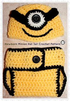 3 Monkeys' Mommy: Despicable Me Inspired Newborn Accessories: CROCHET PATTERN, free