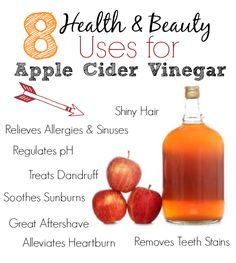 8 Health & Beauty Uses for Apple Cider Vinegar | This Girl's Life Blog