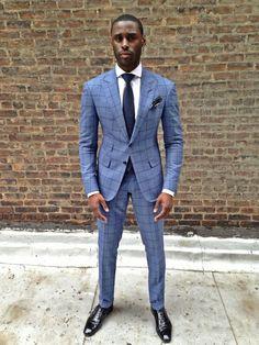 Male formal - stripe suit