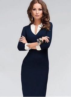 31 Trendy Business Casual Dress for Ladies - Bellestilo Dresses For Teens, Trendy Dresses, Women's Fashion Dresses, Nice Dresses, Dresses For Work, Dress Work, Elegant Dresses, Fashion Clothes, Floryday Dresses