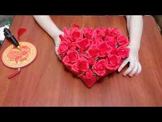 "Букет из конфет ""Сердце из роз"". DIY sweet bouquet ""heart of roses"" - YouTube"