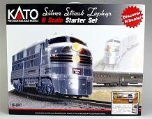 Kato #106-0041  Silver Streak Zephyr Starter Set - CB&Q