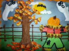One of my favorite completely edible buttercreme Halloween scenes to create!