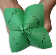 Saint Patrick's Day Chatterbox: I love using these for sight words during the year!