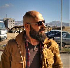 Bald Men With Beards, Bald With Beard, Hairy Men, Bearded Men, Moustache, Beard No Mustache, Shaved Head Styles, Shaved Head With Beard, Bald Men Style