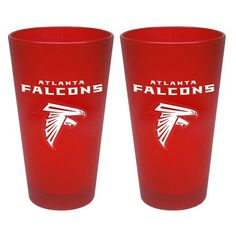 NFL Atlanta Falcons 2 Pack Colored Frosted Pints by Boelter Brands. $16.47. Set of 2 Team color frosted pint glasses with team logo. Made in the USA. Dishwasher safe. NFL Baltimore Ravens 2pk Colored Frosted Pints. Save 25%!