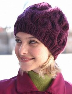Arctic Sunset Cable Hat | This cabled knit hat pattern is both functional and stylish.