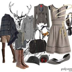 A fashion look from October 2009 featuring brown dresses, wrap coats and tweed jacket. Browse and shop related looks. English Country Fashion, British Country Style, English Style, English Heritage, Mode Chic, Mode Style, Look Fashion, Winter Fashion, Womens Fashion