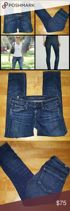 """Citizens of humanity Racer Skinny Jeans Patina Wash, Excellent condition, Smoke free home  Profesionally hemmed to 24"""" inseam 98% cotton 2% spandex Citizens of Humanity Jeans Skinny"""