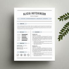 Resume Template  The Garner Resume Design Instant Download