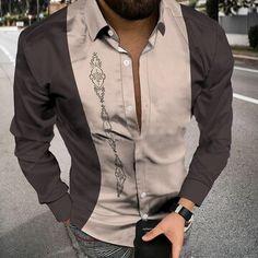 New Arrivals Fashion Shirts, Mens Fashion, Shirt Sleeves, Long Sleeve Shirts, Color Patterns, Print Patterns, Bomber Jacket, Casual, Jackets