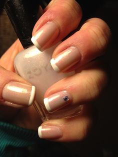 Sparkly French Manicure