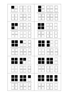 Getalbeelden tot 20  Getalbeelden tot 20, geschikt voor het eerste leerjaar. Computational Thinking, Aperol, Primary School, First Grade, Maths, Spelling, Deco, Type, Simple